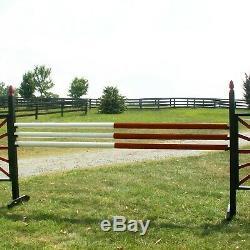 Horse Jumps 12ft Bundle/6 Half & Half CUT Wood Rails Color Choice
