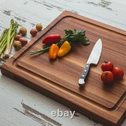 John Boos 21 Au Jus Carving Cutting Board with Juice Groove, Walnut (Open Box)
