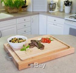 John Boos Block RAFR2418 Reversible Maple Edge Grain Cutting Board 24x18x2.25