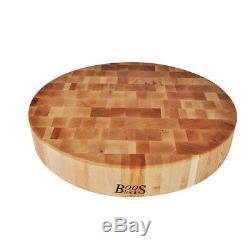 John Boos CCB183-R 18 Diameter Boos Block Hard Rock Maple Cutting Board