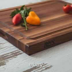 John Boos Reversible 21 Au Jus Carving Cutting Board with Juice Groove, Walnut
