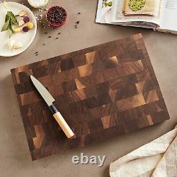 John Boos Walnut Wood Edge Grain Reversible Cutting Board, 18 x 12 x 1.75 Inches