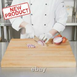 Large Wood Restaurant Cutting Board 24x24x1.75 Butcher Block Commercial Kitchen