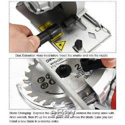 Laser Guide Circular Saw Mini Small Compact Handheld Wood Iron Cutting Tool Kit