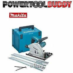 Makita SP6000K1 Plunge Cut Circular Saw 165mm 240volt + 2 x 1.5mt Guide Rail B40
