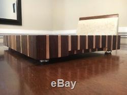 Maple and walnut brick end grain cutting board butcherblock Delta Wood Products