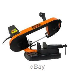 Metal-Cutting Benchtop Band Saw 5 in. Variable Speed Blade Rotation Compact