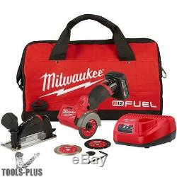 Milwaukee 2522-21XC M12 FUEL 3 Compact Cut Off Tool Kit New