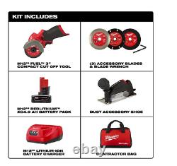 Milwaukee 2522-21xc M12 FUEL 3 Compact Cut Off Tool Kit with(1) 4Ah Battery