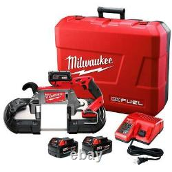 Milwaukee 2729-22 M18 FUEL 18V Deep Cut Band Saw with Batteries