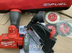 Milwaukee M12 FUEL 12-Volt 3 in. Brushless Cordless Cut Off Saw Kit W Carry Bag