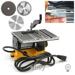 Mini 4 Table Bench Saw Electric Wood Metal Glass Cutting Hobby DIY Saw Cutter