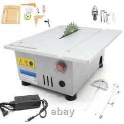 Mini Bench Top Table Saw Blade Woodworking Cutting Polishing Carving Machine US