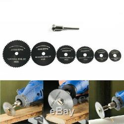 Mini Drill Rotary Wood Cutting Blade Tool Circular Saw Disc Set Dremel-Accessory