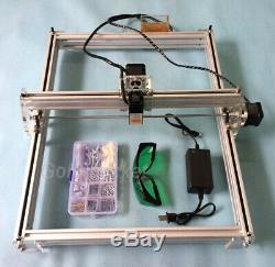 Mini Laser Engraving Machine 40X50CM DIY Logo Cutting 500mW Marking Wood Printer