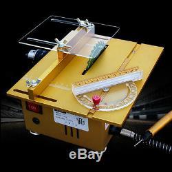 Mini Table Saw DIY Wood Cutting Machine Portable Woodworking Grinder Polisher Nu