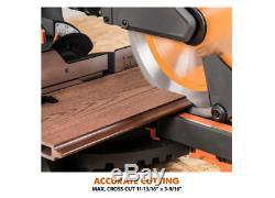 Miter Saw 10 Sliding Compound Multi Material Cutting Blade Wood Decking Metal