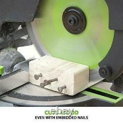 Mitre Saw Sliding Blade Compound Cut Chop Plastic Steel Wood Metal Multipurpose