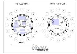 Moon House 20 Diam Dome Framing Kit Prefab Wood Pre-cut Diy Home Frame A330 Sf