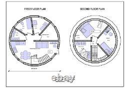 Moon House 26 Diam Dome Framing Kit Prefab Wood Pre-cut Diy Home Frame A680sf