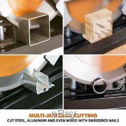 Multi-Purpose Chop Saw 14 In. Power Cut-Off Wood Steel Aluminum Cutting Tool
