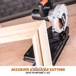 Multi-Purpose Corded Chop Saw 10 Amp 7-1/4 in. Cut-Off Machine Evolution RAGE4