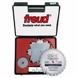 New Freud Sd508 Super Dado Titanium Carbide 8 Saw Blade Kit 8 Set In Case