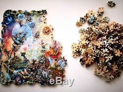 New Hand Cut Wooden Jigsaw Puzzle The Gnome Worldin Wooden Box