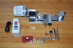 New taig metal wood cutting lathe with. 73 hp variable speed brushless motor