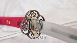 O-Kissaki Katana Clay Tempered 1095 Carbon Steel Heavy Cutting Japanese Sword