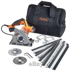 Plunge Saw with Guide track Compact 28mm Cutting Depth Blades & Carry Bag 1050W