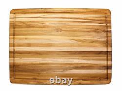 Proteak 108 Teak Cutting Board with Groove 24 x 18 x 1.5 inch NEW