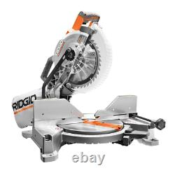 RIDGID Miter Saw Dual Bevel 15 Amp 10 in. With LED Cut Line Indicator
