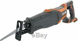 RIDGID R8642 18-Volt Cordless Reciprocating Saw Tool-Only Blade Wood Cutting New
