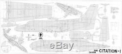 ROYAL Cessna 500 Laser Cut Short Kit, Plans & Instruction, 67 ws, PLEASE READ