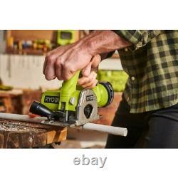 RYOBI Cordless Circular Saw 18-Volt Adjustable Plunge Cutting Depth Metal Blade