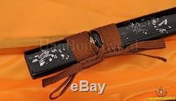 Real Handmade Katana Samurai Japanese Bird Sword 1060 Steel Blade Can Cut Bamboo