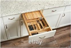 Rev-A-Shelf 4KCB-18 4KCB Series Pull Out Knife Holder and Cutting Natural Wood