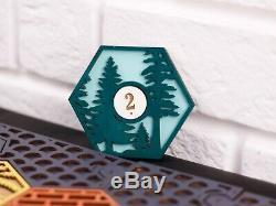 Settlers of Catan Board 5-6 Players FULL. Dark grey. Custom, Wood, Laser Cut