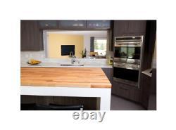 Solid Wood Butcher Block Countertop 50 x 25 x 1.5 Cutting Board Unfinished Birch