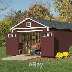 Storage Shed 112' x 20' Pre-cut wood kit is ready-to-assemble 15-year warranty