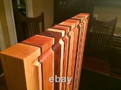 Striped Cutting Board Hand Crafted
