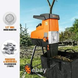 TACKLIFE Wood Chipper, 15-Amp Garden Shredder, Max 1.77-in Cutting Capacity, Com