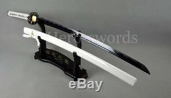 Tradition Handmade Japanese Samurai Black Blade Sword Katana Can Cut Tree Sharp