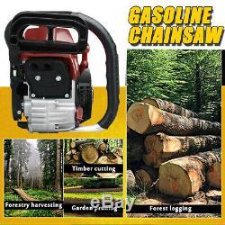 US 4000W 79CC Chainsaw 20'' Bar Gasoline Powered Wood Cutting Chain Saw 2 Stroke