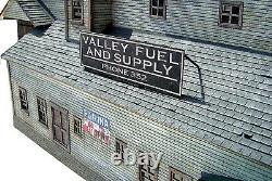 VALLEY FUEL HO Model Railroad Structure Unpainted Laser-Cut Wood Kit LA693
