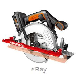 WORX WX530L 20-Volt 6-1/2-Inch ExacTrack Cordless Cutting Circular Saw