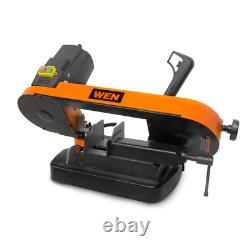 Wen Benchtop Bandsaw Variable Speed Metal Cutting Compact Beveling Blade 5 in