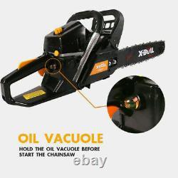 X-BULL 62cc Chainsaw 20 Bar Powered Engine 2 Cycle Gasoline Cutting Wood Yellow