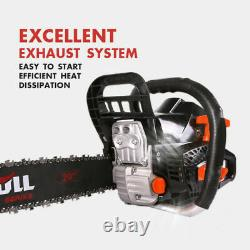 X-BULL 62cc Gasoline Powered Chainsaw 20 Bar Engine 2 Cycle Wood Cutting
